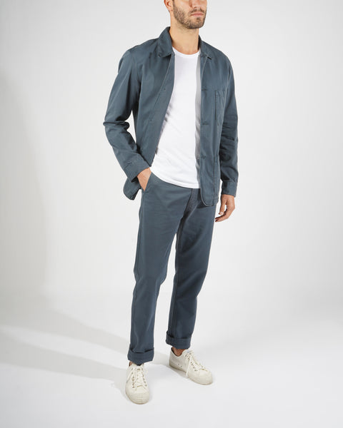 navy jacket model fit