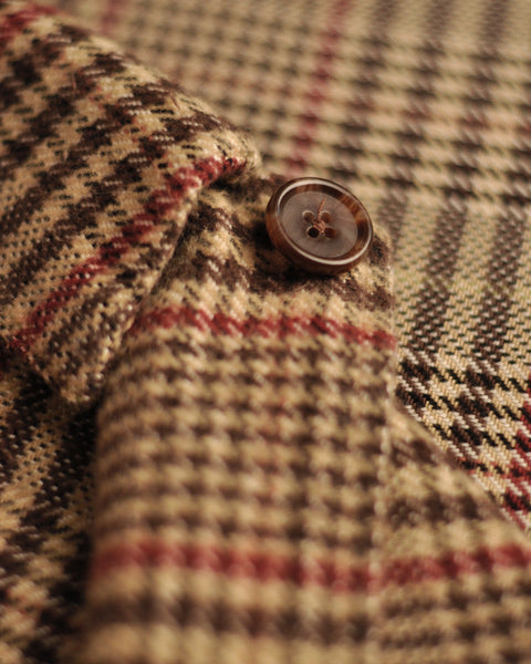 flannel jacket check detail button