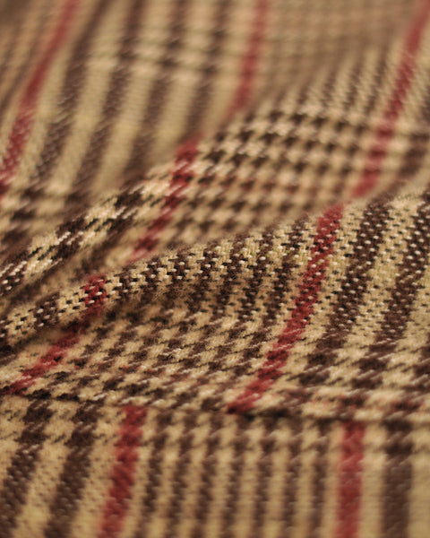 flannel jacket check detail fabric