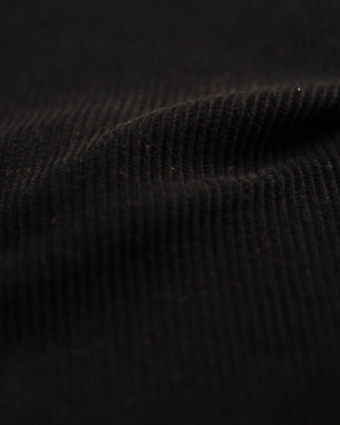 corduroy shirt black detail fabric