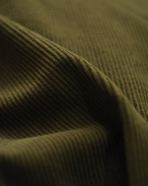 corduroy shirt olive green detail fabric