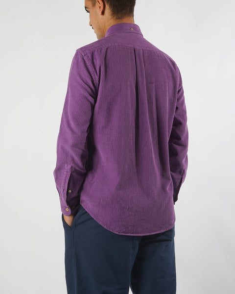 corduroy shirt purple model back