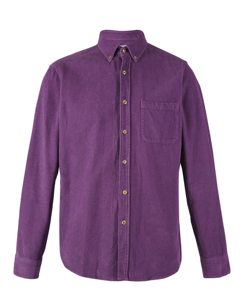 corduroy shirt purple product front