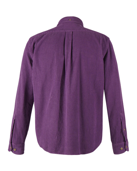 corduroy shirt purple product BACK