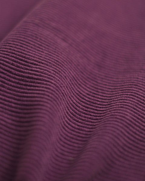 corduroy shirt purple detail fabric