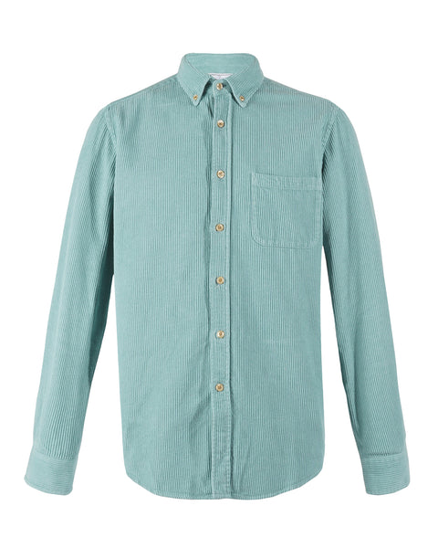 corduroy shirt turquoise product front