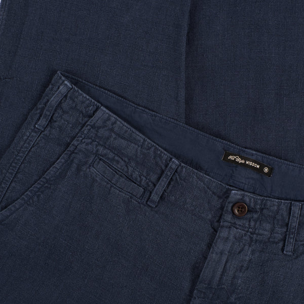 LINEN TROUSERS - NAVY