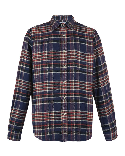 flannel shirt plaid blue red white product front