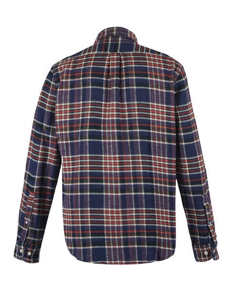 flannel shirt plaid blue red white product back