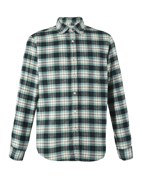 flannel shirt green white prodcut front