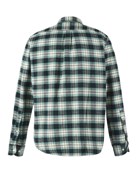 flannel shirt green white product back