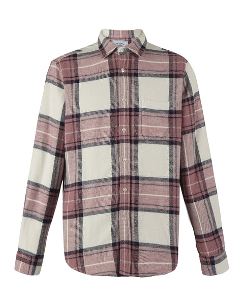 flannel shirt plaid white old rose product front