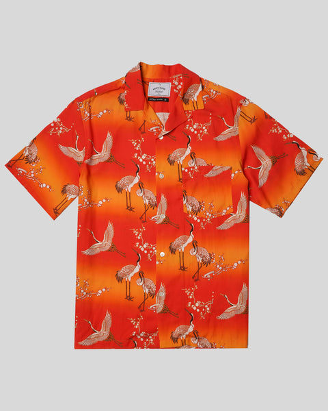 printed bird short sleeve shirt product front