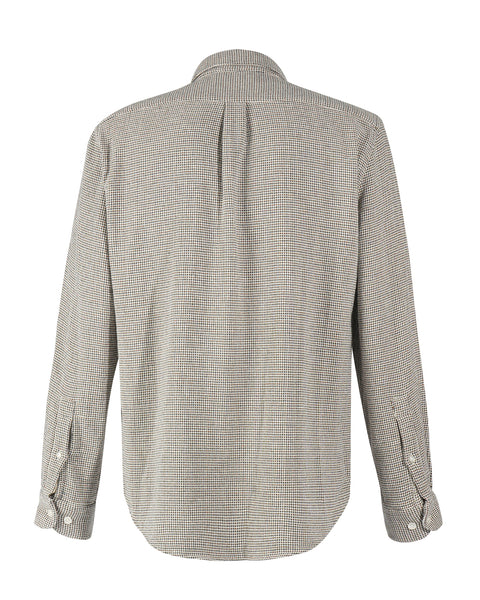 long sleeve shirt tricot grey model back