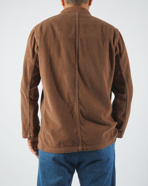 corduroy jacket brown model back