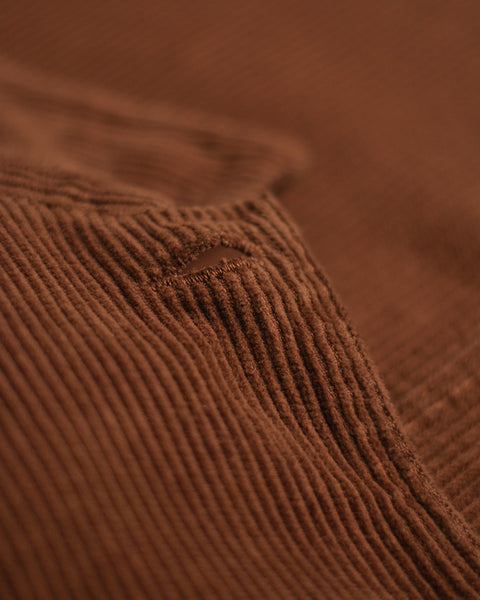 corduroy jacket brown detail fabric