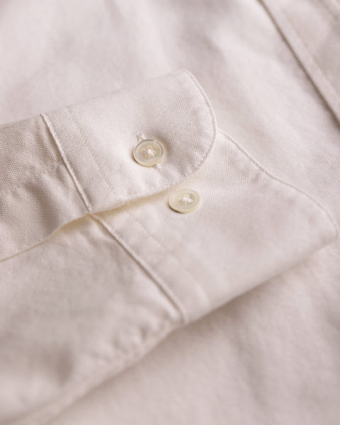 white long sleeve shirt oxford detail buttons
