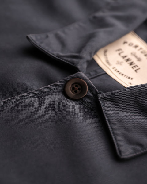 navy jacket detail button