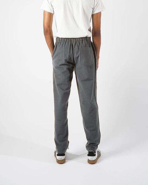 flannel trousers grey model back