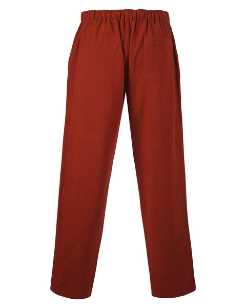 flannel trousers bordeaux red product back