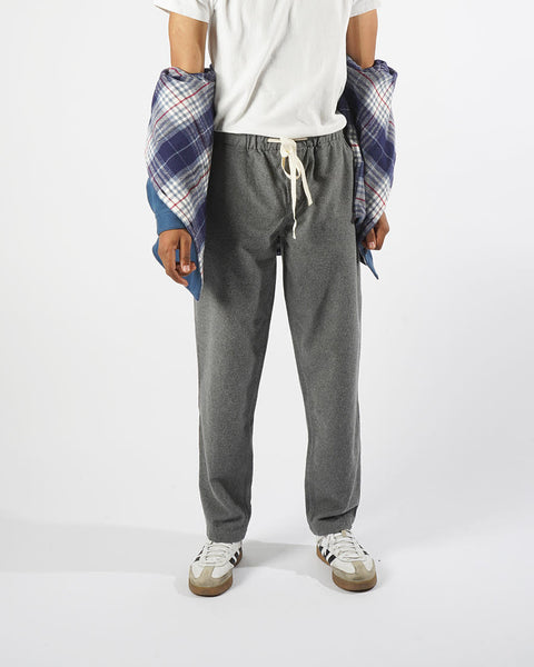 flannel trousers grey model front open