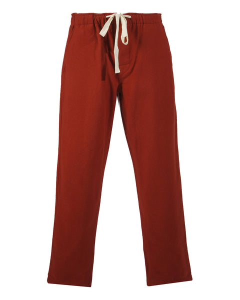 flannel trousers bordeaux red product front