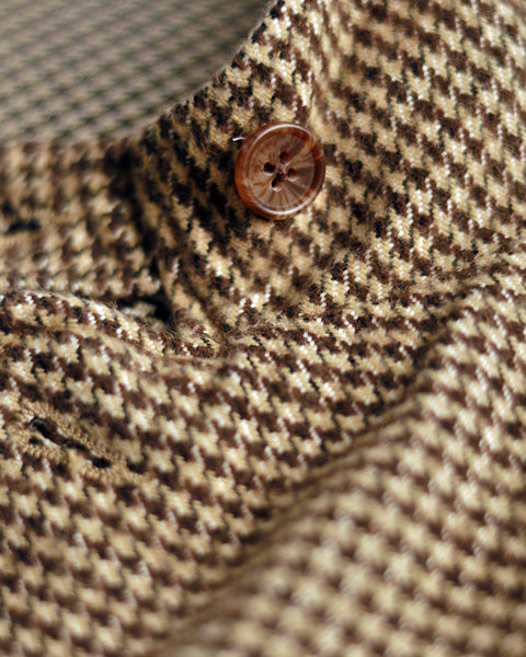 flannel jacket pied de poule detail button