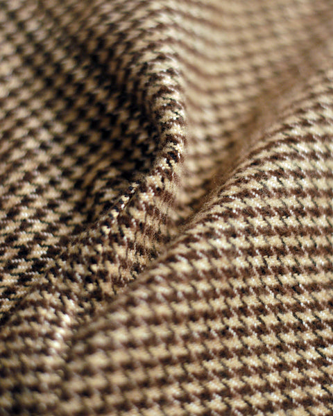 flannel jacket pied de poule detail fabric