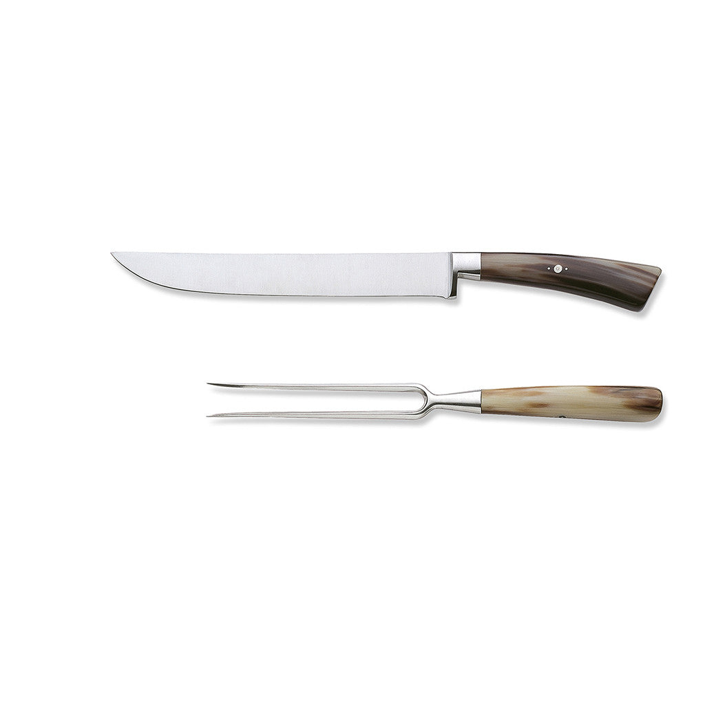 Eligo - Carving set of 2 knives Ox Horn (Partial tang) (Knives) - 7