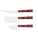 Eligo - La Cerimonia dei Formaggi (Cheeses set) Red Handle (Full tang) (Knives) - 1