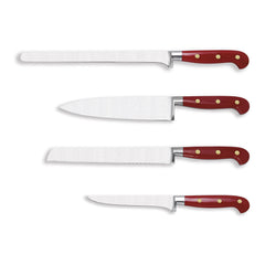 Eligo - Trousseau of 4 kitchen knives Red Handle (Full tang) (Knives) - 1