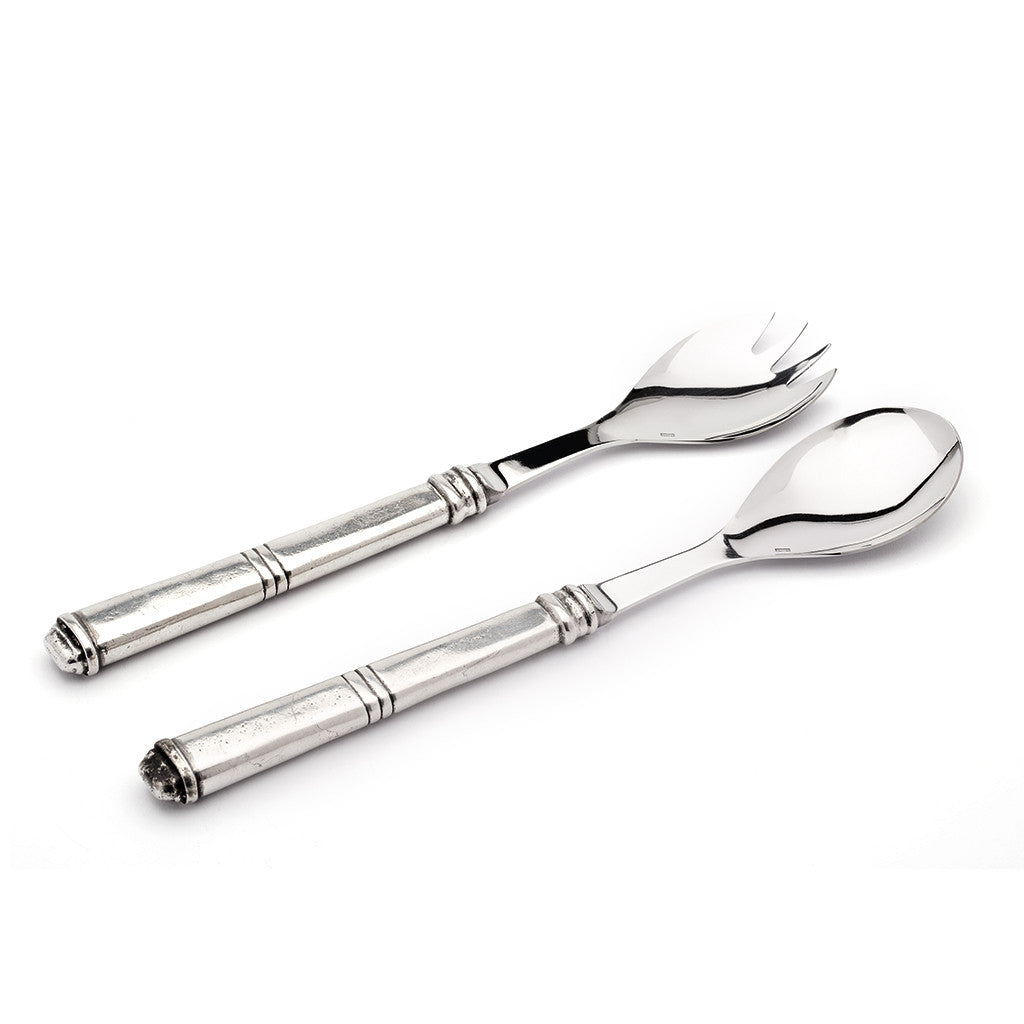 Eligo - Salad servers  (Pewter)