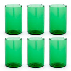 Set 6 x Simple High Glass Green