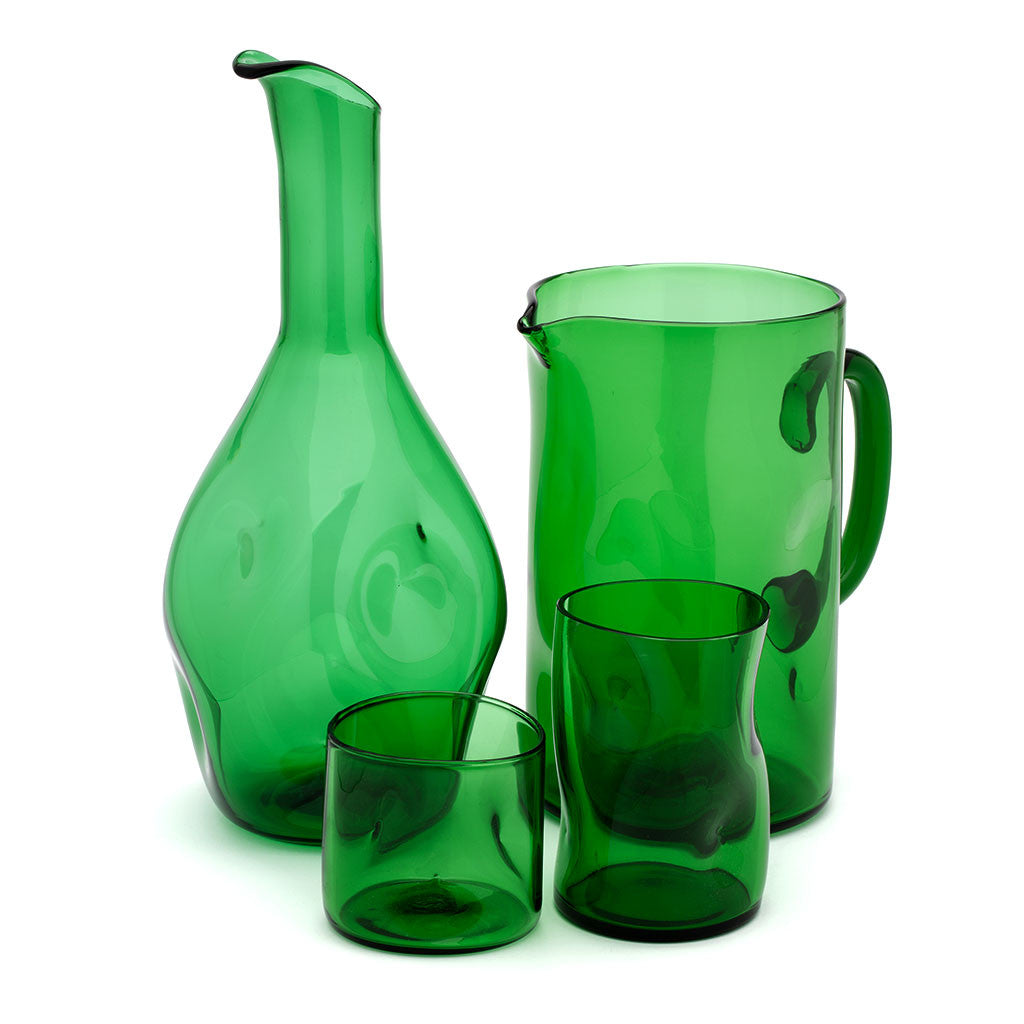 Eligo - Bugnato Jug Green  (Glasses) - 5
