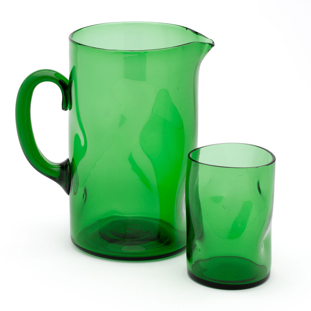Eligo - Bugnato Jug Green  (Glasses) - 4