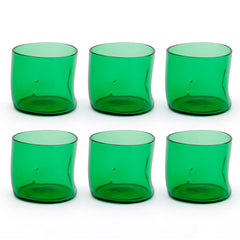 Set 6 x Bugnato Low Glass Green