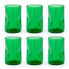 Set 6 x Bugnato High Glass Green