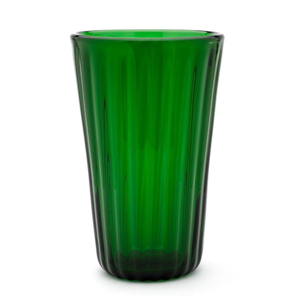 Eligo - Lined Vase Green  (Glasses) - 1