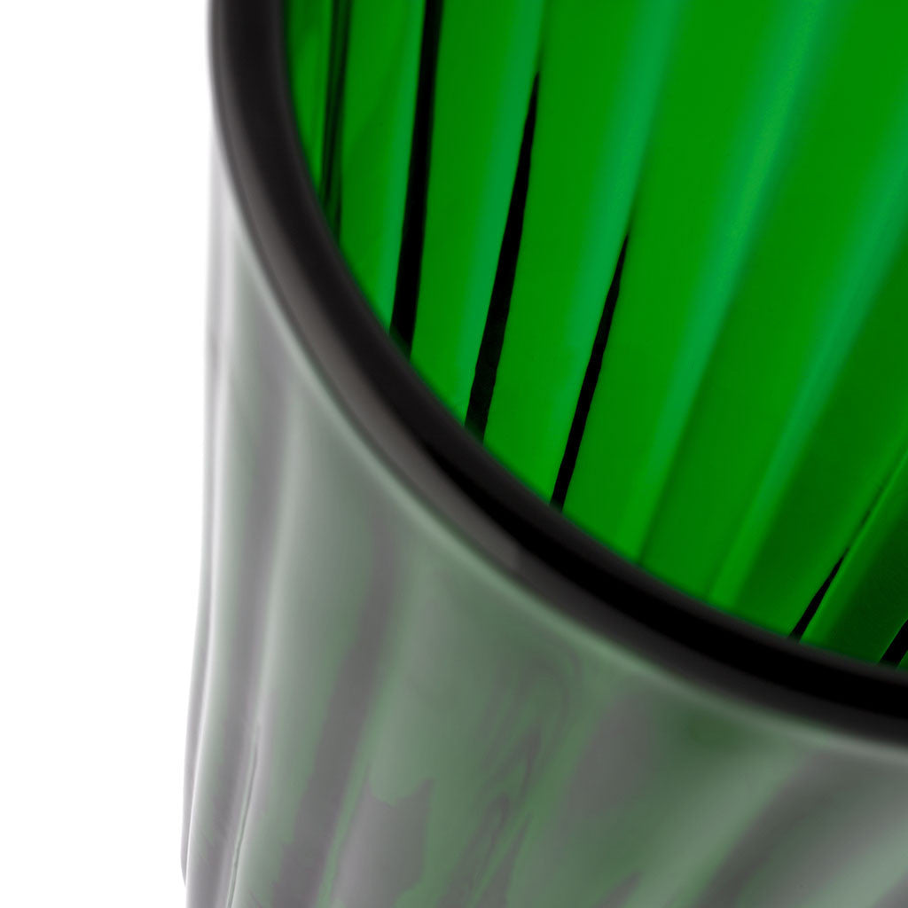 Eligo - Lined Vase Green  (Glasses) - 2