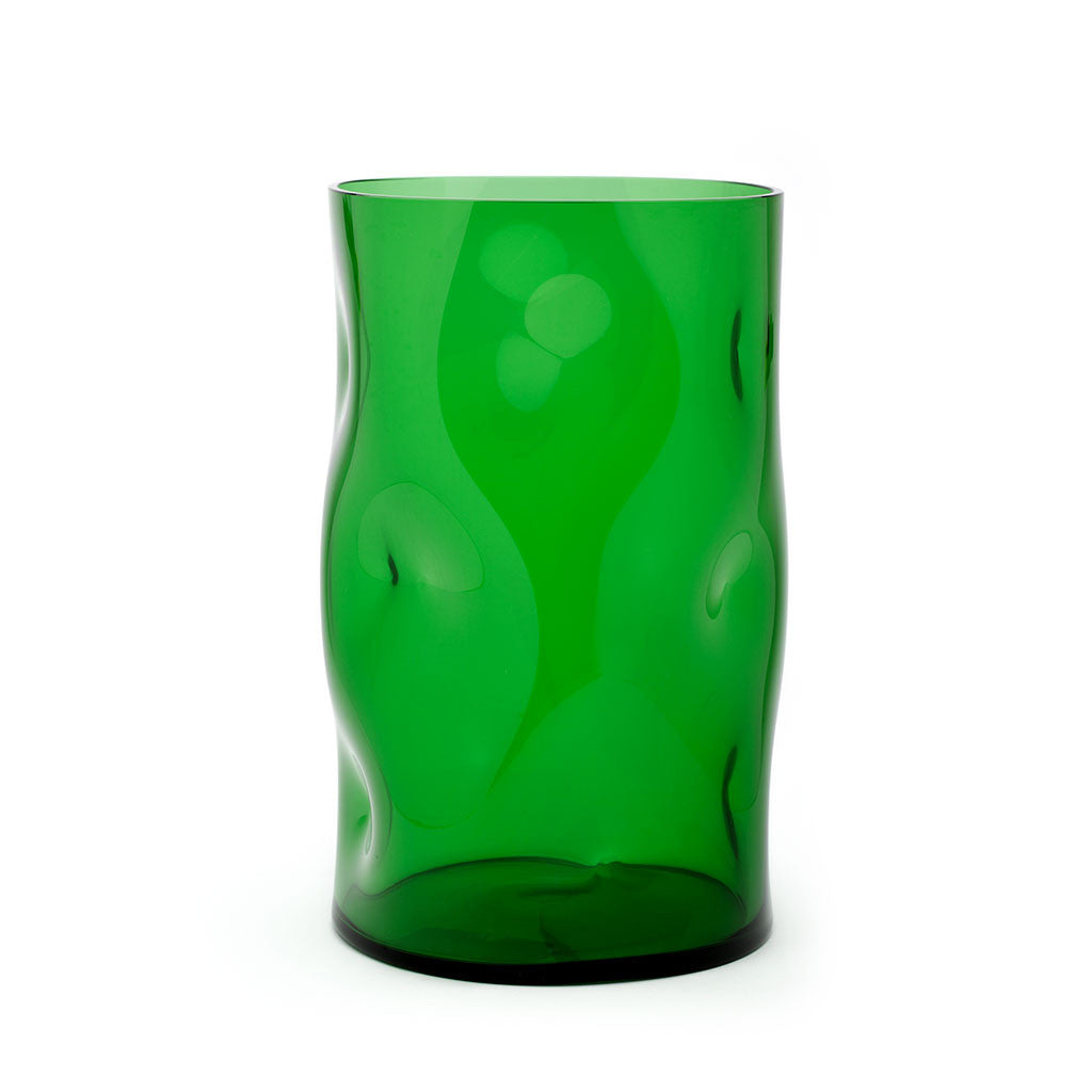 Eligo - Bugnato Small Vase Green  (Glasses) - 1
