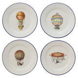 Set of Hot-Air Baloons Plates