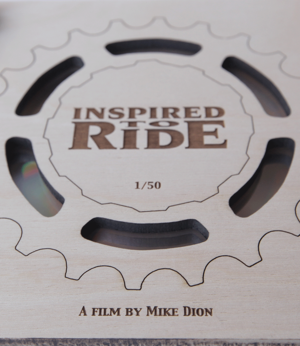 Inspired to Ride Wood Laser Engraved Wood DVD Case