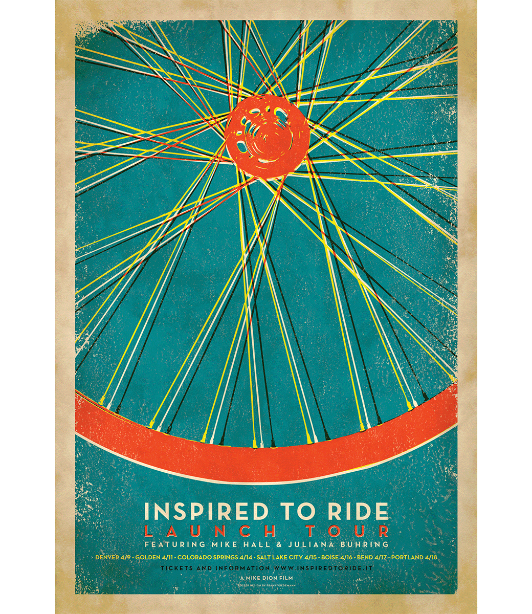 Inspired to Ride Launch Tour Poster