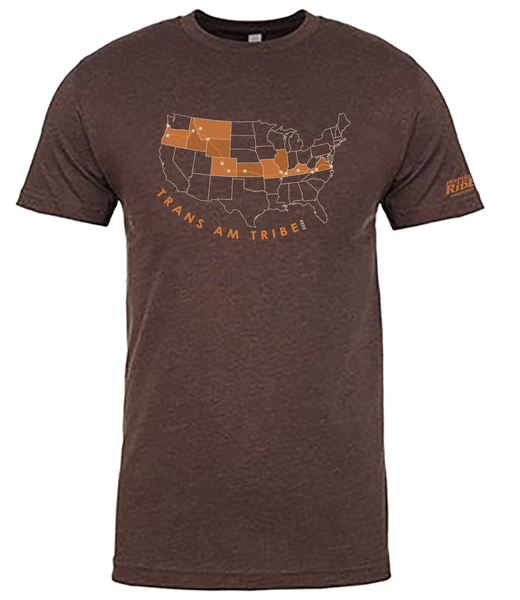 Trans Am Bike Route Tribe T-shirt Map