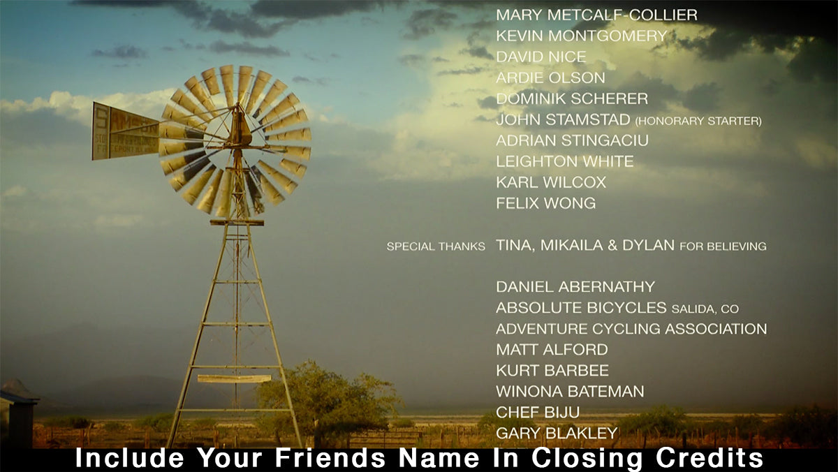 Include Your Friend's Name In The Film Too