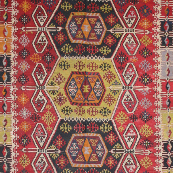 Large Turkish Flatwoven Kilim