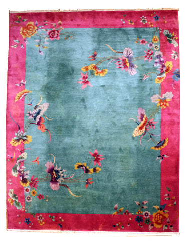 Large Antique Chinese Art Deco rug