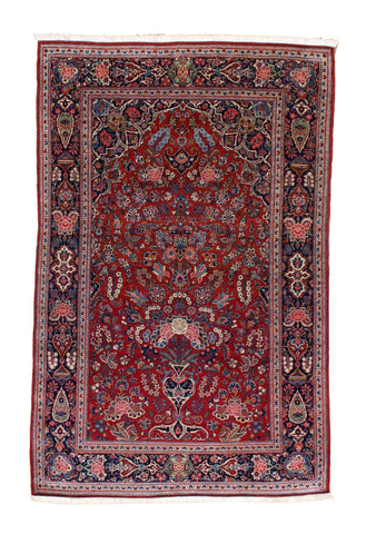 Persian Keshan Prayer Rug