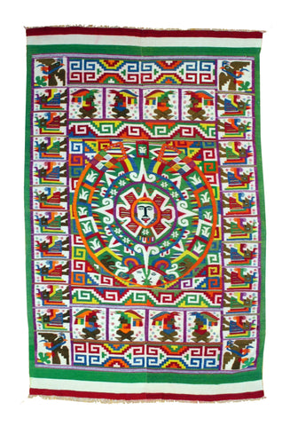 Colorful Vintage Mexican Textile