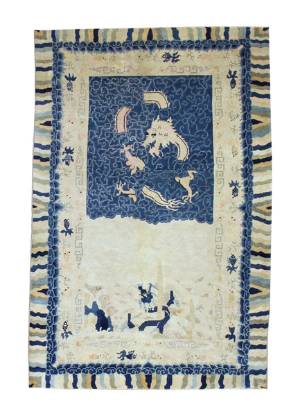 Antique Chinese Peking Rug